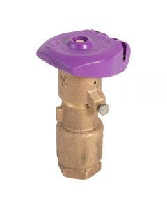 44NP Non-Potable Quick Coupling Valve, 2-Piece Body, Purple Locking Rubber Cover