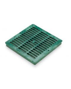 DG12SFG - 12 inch Plastic Square Flat Drainage Grate - Green