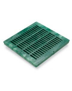 DG18SFG - 18 inch Plastic Square Flat Drainage Grate - Green