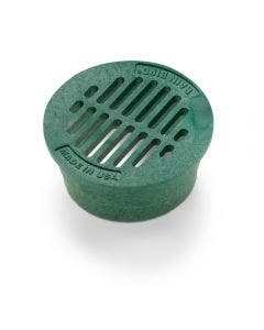 DG3RFG - 3 inch Plastic Round Flat Drainage Grate - Green