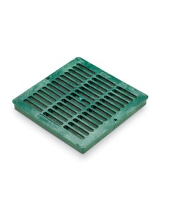 DG12SFG - 12 inch Plastic Square Flat Drainage Grate - Green