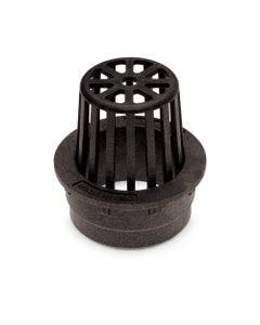 DG3RAB - 3 inch Plastic Round Atrium Drainage Grate - Black