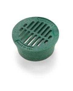DG3RFG - 3 inch Plastic Round Flat Drainage Grate - Green