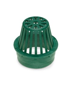 DG4RAG - 4 inch Plastic Round Atrium Drainage Grate - Green