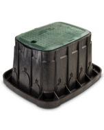 VBREC12 - 12 in. Rectangular Valve Box - Green Lid